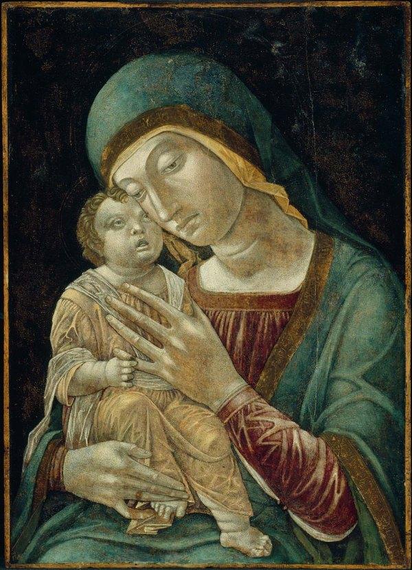 andrea mantegno madonna y el niño
