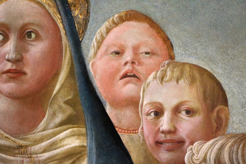 Madonna dell'Umiltà con angeli e santi carmelitani (In zoom)