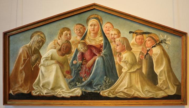 Madonna dell'Umiltà con angeli e santi carmelitani