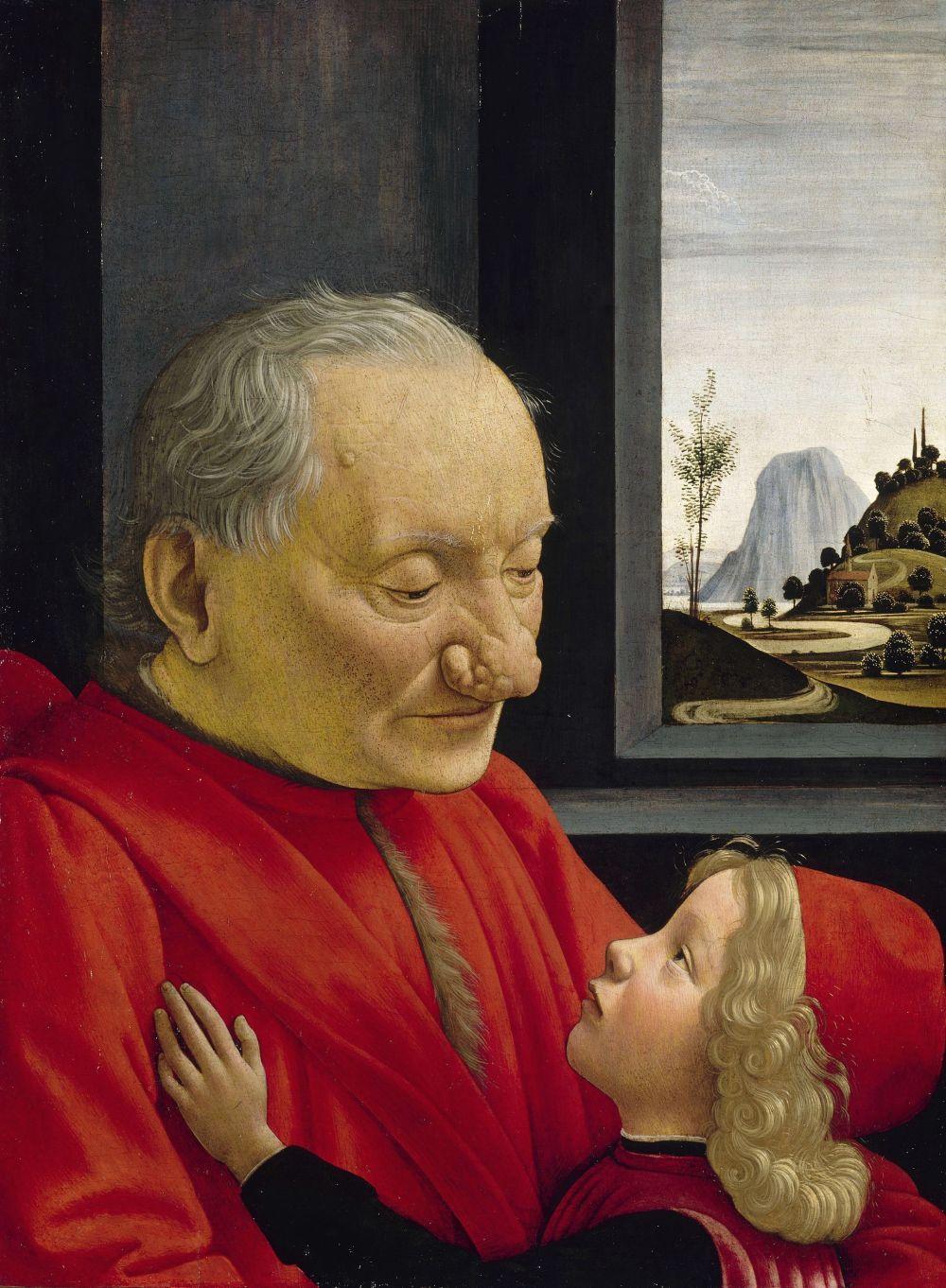 Ritratto di nonno con nipote
