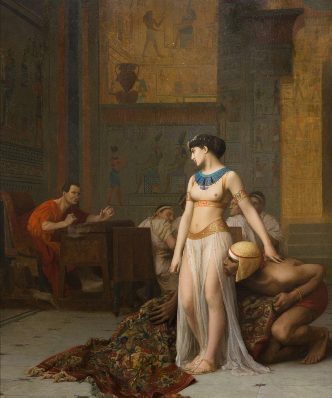 Cleopatra and Caesar Jean Leon Gerome