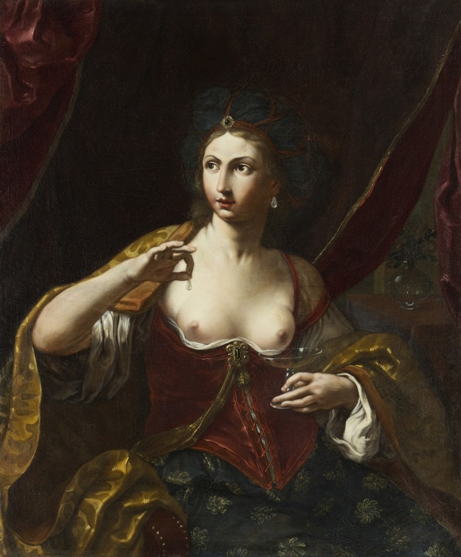 Elisabetta Sirani Cleopatra 1664. Modena, coll.privata.jpg